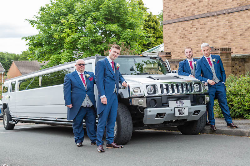 Limousine west Yorkshire wedding