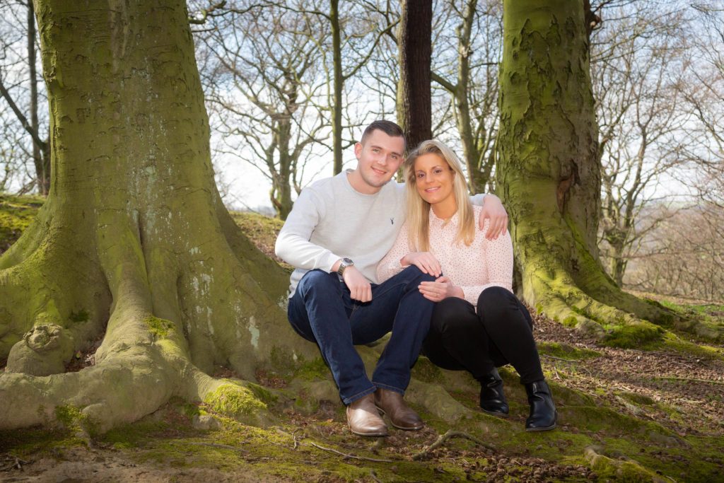 Wedding preshoot in Hopton Woods, Mirfield. By Sarah Hargreaves of Sugar Photography