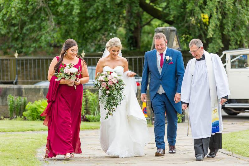 Blythe wedding 2019 walk to church