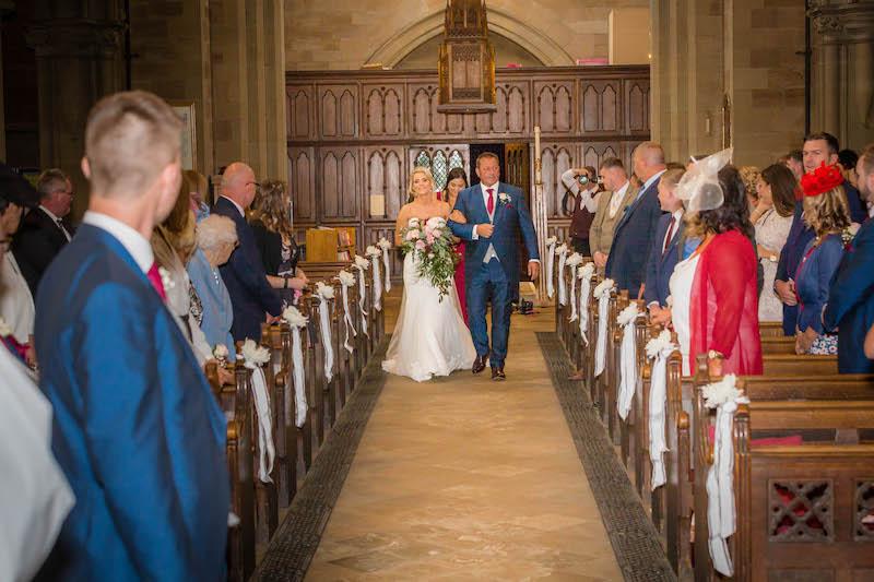 Blythe wedding 2019 bride in aisle