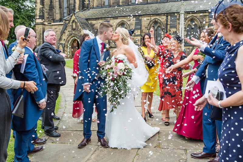 Blythe wedding 2019 confetti