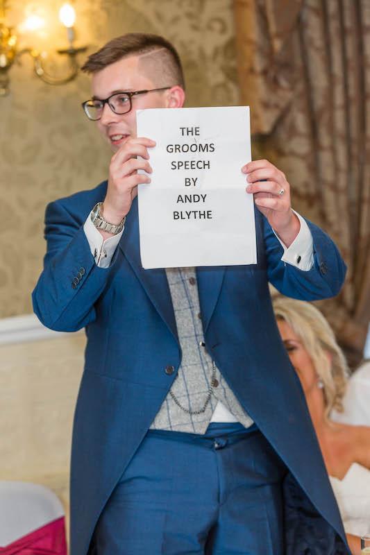 Blythe wedding 2019 Groom speech