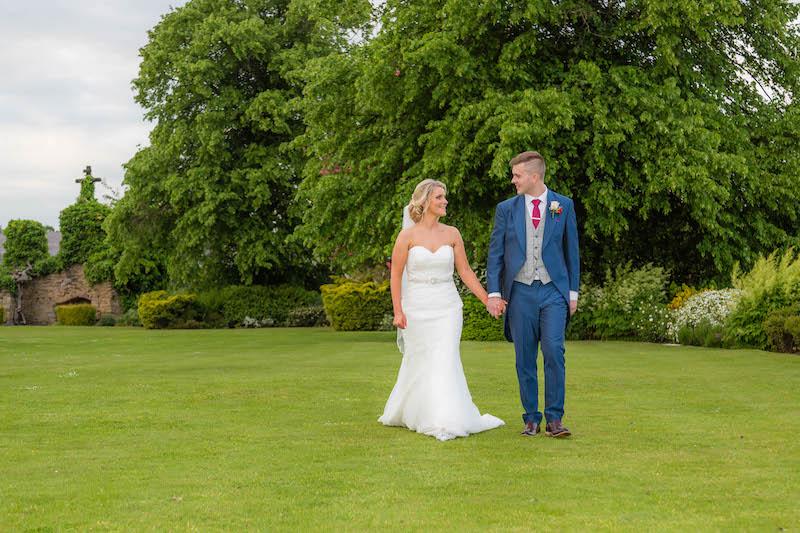 Blythe wedding 2019 Bride and Groom Walk