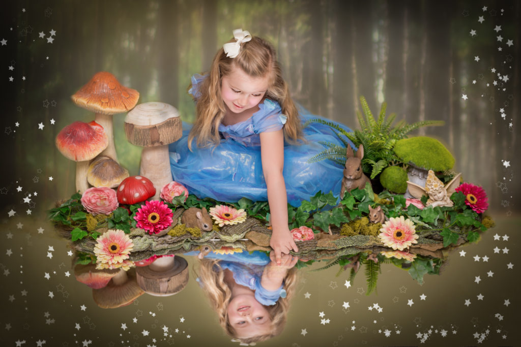 Girl poses as a fairy during a west Yorkshire photoshoot