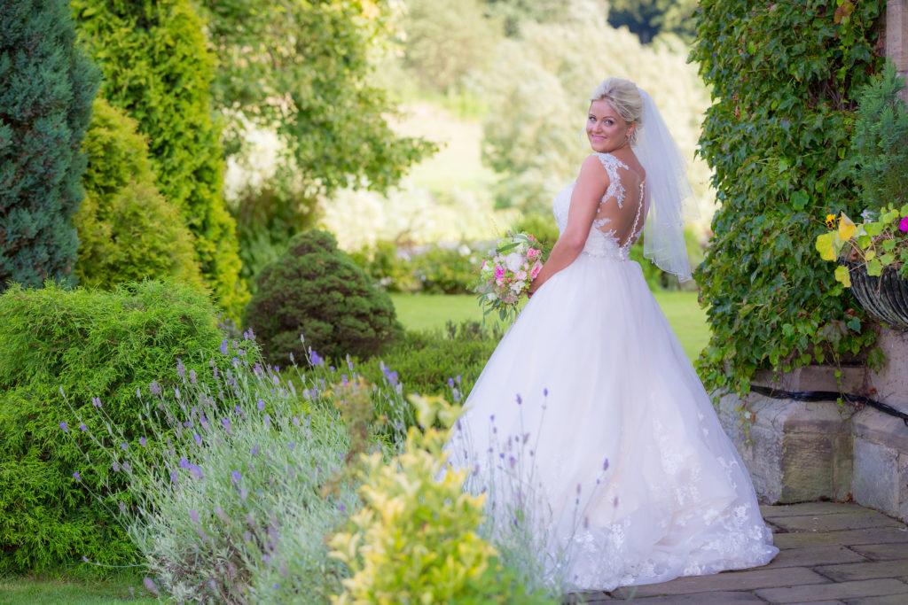 Bride in the garden west Yorkshire
