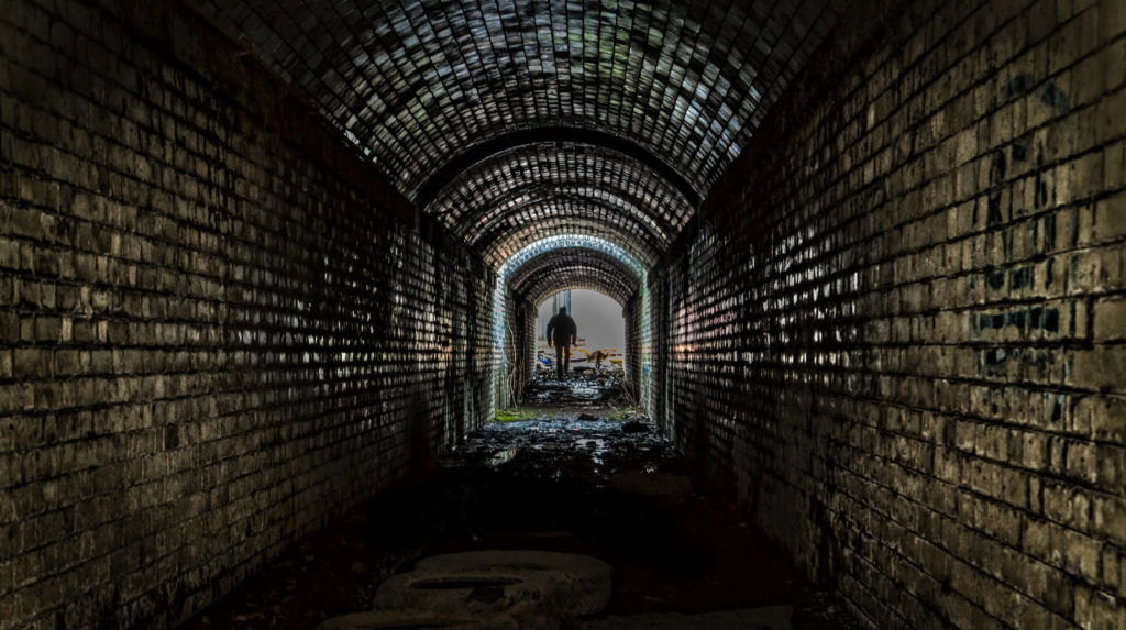 Horbury West Curve Disused Railway Tunnel. West Yorkshire spooky photo location.