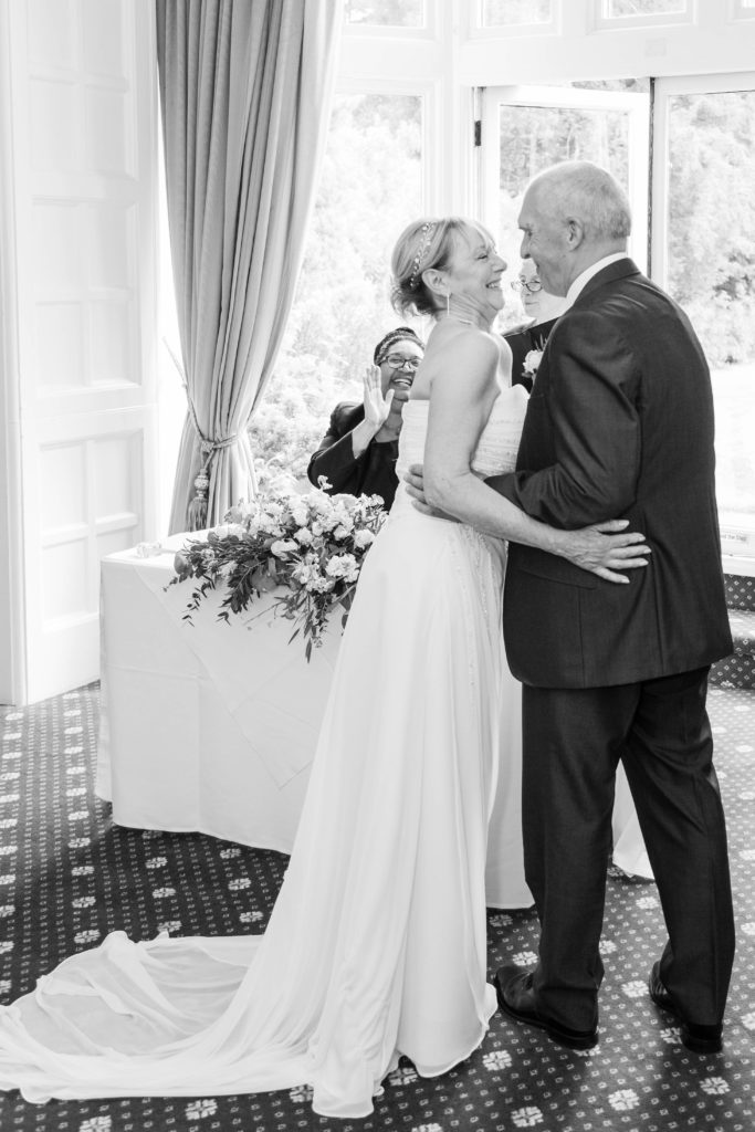 Mr and Mrs Darbyshire. Sharing Joy in the moment they were declared Man and Wife