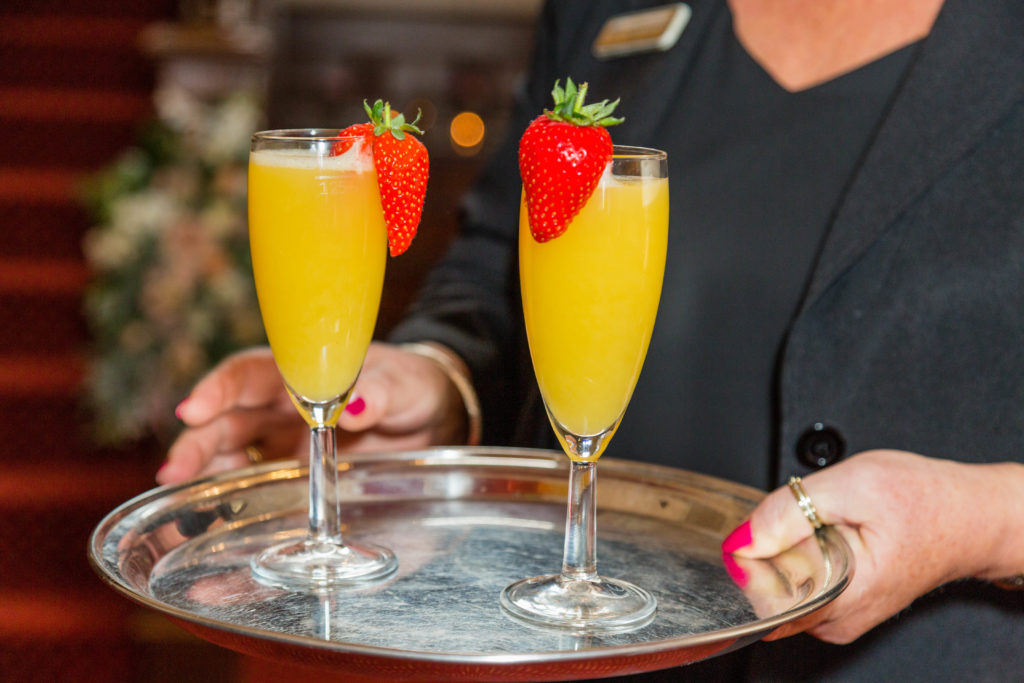 Drinks service at Bagden Hall Hotel