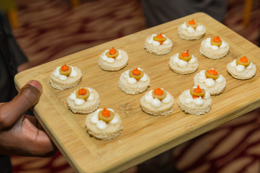 Canapes served at Bagden Hall Hotel