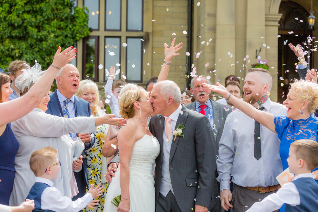 Wedding Confetti at Bagden Hall Hotel in West Yorkshire