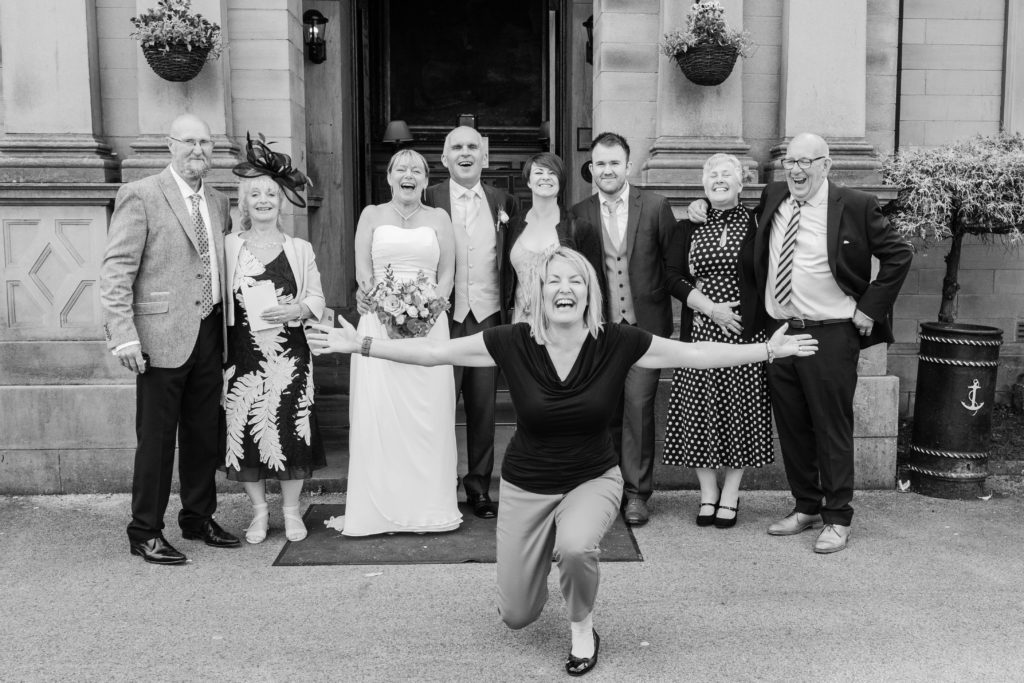 Sarah Hargreaves joins the wedding day fun with Mr and Mrs Darbyshire