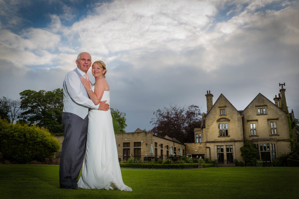 Wedded couple at Bagden Hall Hotel