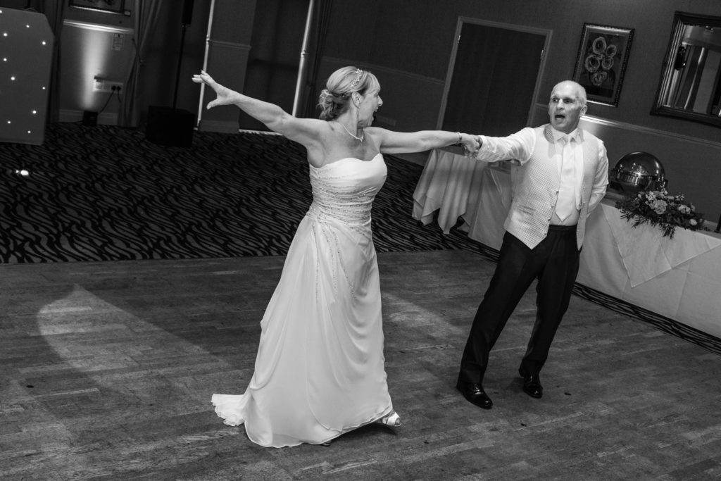 Mono image of first dance